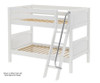 Maxtrix HOTHOT Low Bunk Bed Twin Size White | 26367 | MX-HOTHOT-WX