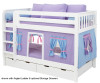 Maxtrix Low Bunk Bed with Curtains | 26369 | MX-HOTSHOT-CT