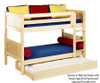 Maxtrix HOTSHOT Low Bunk Bed Twin Size Natural | 26371 | MX-HOTSHOT-NX
