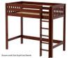 Maxtrix JIBJAB High Loft Bed Twin Size Chestnut | 26375 | MX-JIBJAB-CX