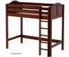 Maxtrix JIBJAB High Loft Bed Twin Size Natural   Maxtrix Furniture   MX-JIBJAB-NX