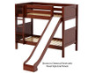 Maxtrix JOLLY Medium Bunk Bed w/ Slide Twin Size Chestnut   26378   MX-JOLLY-CX