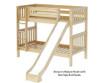 Maxtrix JOLLY Medium Bunk Bed w/ Slide Twin Size Natural | 26379 | MX-JOLLY-NX