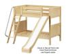 Maxtrix JOLLY Medium Bunk Bed w/ Slide Twin Size White | Maxtrix Furniture | MX-JOLLY-WX