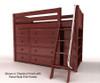 Maxtrix KATCHING Mid Loft Bed w/ Dressers & Bookcase Twin Size Chestnut   Maxtrix Furniture   MX-KATCHING2-CX