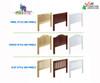Maxtrix KATCHING Mid Loft Bed w/ Dressers & Bookcase Twin Size White | 26388 | MX-KATCHING2-WX