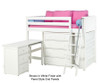 Maxtrix KATCHING Mid Loft Bed w/ Storage and Desk Twin Size Natural | 26390 | MX-KATCHING3L-NX