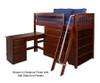 Maxtrix KATCHING Mid Loft Bed w/ Storage and Desk Twin Size White | Maxtrix Furniture | MX-KATCHING3L-WX
