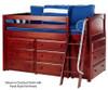 Maxtrix KICKS Low Loft Bed w/ Dressers Twin Size Chestnut | Maxtrix Furniture | MX-KICKS-CX