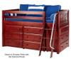 Maxtrix KICKS Low Loft Bed w/ Dressers Twin Size Chestnut | 26392 | MX-KICKS-CX