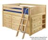Maxtrix KICKS Low Loft Bed w/ Dressers Twin Size Natural | Maxtrix Furniture | MX-KICKS-NX