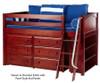 Maxtrix KICKS Low Loft Bed w/ Dresser & Bookcase Twin Size Natural | Maxtrix Furniture | MX-KICKS2-NX