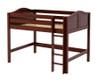 Maxtrix KING Mid Loft Bed Full Size Chestnut   Maxtrix Furniture   MX-KING-CX