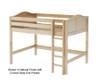 Maxtrix KING Mid Loft Bed Full Size Natural | Maxtrix Furniture | MX-KING-NX