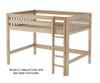 Maxtrix KING Mid Loft Bed Full Size Natural | 26406 | MX-KING-NX