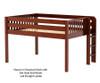 Maxtrix KIT Low Loft Bed Full Size Chestnut | 26408 | MX-KIT-CX