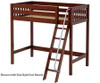 Maxtrix KNOCKOUT High Loft Bed Twin Size Chestnut | 26411 | MX-KNOCKOUT-CX