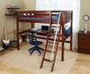 Maxtrix KNOCKOUT High Loft Bed with Desk Twin Size Natural | Maxtrix Furniture | MX-KNOCKOUT1-NX
