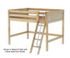 Maxtrix KONG Mid Loft Bed Full Size Chestnut | Maxtrix Furniture | MX-KONG-CX
