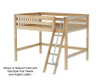 Maxtrix KONG Mid Loft Bed Full Size Natural | 26419 | MX-KONG-NX