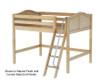 Maxtrix KONG Mid Loft Bed Full Size White | Maxtrix Furniture | MX-KONG-WX