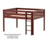 Maxtrix LARGE Low Loft Bed Full Size Chestnut | 26421 | MX-LARGE-CX