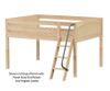 Maxtrix LARGE Low Loft Bed Full Size Natural | Maxtrix Furniture | MX-LARGE-NX
