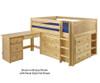 Maxtrix LARGE Low Loft Bed w/ Dressers & Desk Full Size Chestnut | Maxtrix Furniture | MX-LARGE4L-CX