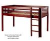 Maxtrix LOW RIDER Low Loft Bed Twin Size Chestnut | 26432 | MX-LOWRIDER-CX
