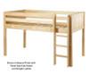 Maxtrix LOW RIDER Low Loft Bed Twin Size Natural | Maxtrix Furniture | MX-LOWRIDER-NX