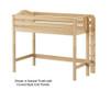 Maxtrix MACK Mid Loft Bed Twin Size Chestnut | Maxtrix Furniture | MX-MACK-CX