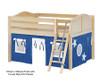 Maxtrix MANSION Low Loft Bed with Curtains Full Size Chestnut 1 | Maxtrix Furniture | MX-MANSION22-CX