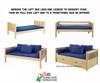 Maxtrix MANSION Low Loft Bed with Curtains Full Size Chestnut 5   Maxtrix Furniture   MX-MANSION26-CX