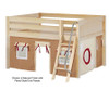 Maxtrix MANSION Low Loft Bed with Curtains Full Size Natural 9 | 26457 | MX-MANSION30-NX