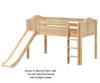 Maxtrix MARVELOUS Low Loft Bed with Slide Twin Size Chestnut   Maxtrix Furniture   MX-MARVELOUS-CX