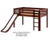 Maxtrix MARVELOUS Low Loft Bed with Slide Twin Size White | Maxtrix Furniture | MX-MARVELOUS-WX