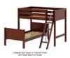 Maxtrix MASH L-Shaped Bunk Bed Twin Size Chestnut | Maxtrix Furniture | MX-MASH-CX