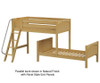 Maxtrix MASH L-Shaped Bunk Bed Twin Size Natural | Maxtrix Furniture | MX-MASH-NX