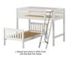 Maxtrix MASH L-Shaped Bunk Bed Twin Size White | Maxtrix Furniture | MX-MASH-WX