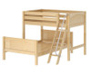 Maxtrix MAX Bunk Bed Twin over Full Size Natural | Maxtrix Furniture | MX-MAX-NX