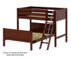Maxtrix MAX Bunk Bed Twin over Full Size White | 26473 | MX-MAX-WX