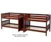 Maxtrix MEGA Quadruple Low Bunk Bed with Stairs Full Size Chestnut | 26474 | MX-MEGA-CX