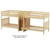 Maxtrix MEGA Quadruple Low Bunk Bed with Stairs Full Size Natural | 26475 | MX-MEGA-NX