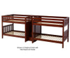 Maxtrix META Quadruple Medium Bunk Bed with Stairs Full Size Chestnut | 26477 | MX-META-CX