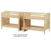 Maxtrix META Quadruple Medium Bunk Bed with Stairs Full Size Natural | Maxtrix Furniture | MX-META-NX