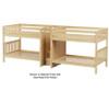 Maxtrix META Quadruple Medium Bunk Bed with Stairs Full Size Natural | 26478 | MX-META-NX