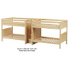 Maxtrix META Quadruple Medium Bunk Bed with Stairs Full Size White | Maxtrix Furniture | MX-META-WX