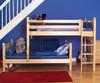 Maxtrix MISH L-Shaped Bunk Bed Twin Size White | Maxtrix Furniture | MX-MISH-WX