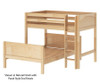 Maxtrix MIX Bunk Bed Twin over Full Size Chestnut | 26483 | MX-MIX-CX