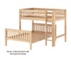 Maxtrix MIX Bunk Bed Twin over Full Size White | 26485 | MX-MIX-WX
